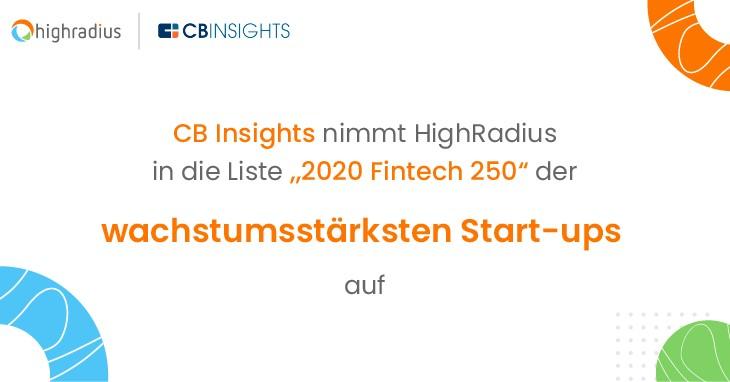 Fintech-250-Liste der wachstumsstärksten Start-ups von CB Insights